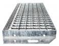 Euroline Gitterroststufe Stahl 600mm Stufenbreite, 240mm Stufentiefe