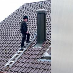 Günzburger Aluminium Dachleiter 15 Sprossen Aluminium