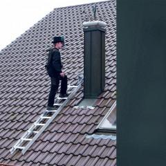 Günzburger Aluminium Dachleiter 15 Sprossen anthrazitgrau