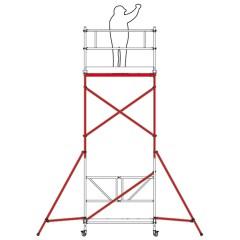 Altrex Klappgerüst RS Tower 34 Aluminium schmal 0,75x1,65m Modul C
