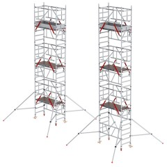Altrex MiTower PLUS Fahrgerüst Safe-Quick®2 Geländer 1-Person-Aufbau Aluminium mit breiter Plattform 0,75x1,72m