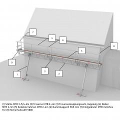 Altrex Einzelteile für modulare Dreieckbühne