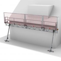 Altrex Modulare Dreiecksbühne Absturzsicherung für geneigte Dächer und Flachdächer 3-5/4-6m