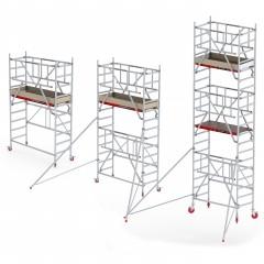 Altrex Fahrgerüst RS Tower 44-S POWER Aluminium mit Safe-Quick 2 Geländer und Holz-Plattform 0,75m schmaler Rahmen