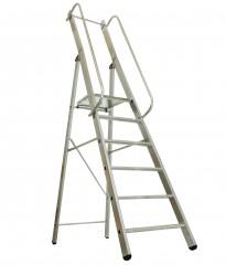Günzburger ML Bauleiter Aluminium-Stufenstehleiter 6 Stufen