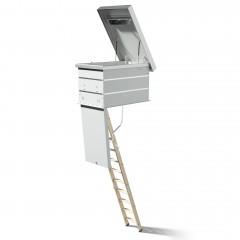 Dolle Flachdachausstieg mit Bodentreppe clickFIX® F30 3-teilig mit U-Wert 0,96 Standardmaße