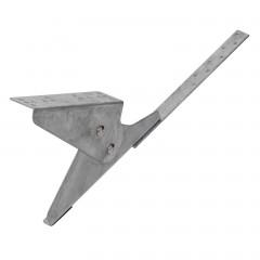 Universal Laufroststütze, Schraub-Montage, verzinkt