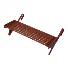 Dachtritt-Set 80x25cm für Großflächenziegel ab 44cm Ziegellänge, Klemm-Montage, rot
