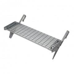 Dachtritt-Set 80x25cm für Großflächenziegel ab 44cm Ziegellänge, Klemm-Montage, verzinkt