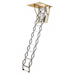 Dolle alu-fix Bodentreppe Scherentreppe mit Lukenkasten bis 260cm Raumhöhe mit U-Wert 0,90