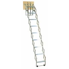 Dolle alu-fix Bodentreppe Scherentreppe mit Stirnbrett bis 219-300cm Raumhöhe