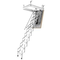 Dolle elektro-top Bodentreppe Scherentreppe elektrisch 240-280cm Raumhöhe mit U-Wert 1,20