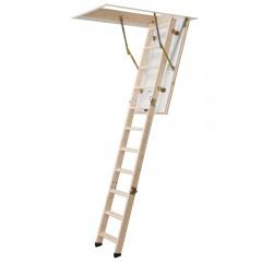 Dolle Bodentreppe kompakt 3-teilig bis 285cm Raumhöhe mit U-Wert 1,3 Standardmaße