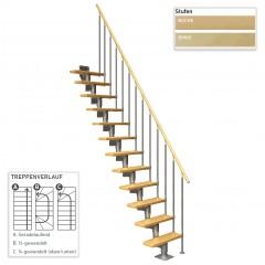 Dolle Mittelholmtreppe Dublin inkl. einseitigem Geländer gerade