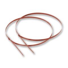 Edelstahlkabelbinder für Schneefangbalken Ø120 und  Ø140, 2er-Set, rot