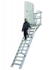 Euroline 511 Podesttreppe 60° 800mm Stufenbreite 12 Stufen