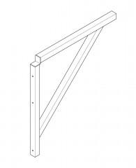 Euroline Dreieckkonsole für 511 Podesttreppe, 600mm Stufenbreite