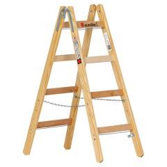 Euroline Holz Sprossenstehleiter 2x4 Sprossen