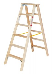 Euroline Holz Stufenstehleiter 2x6 Stufen