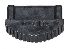 Euroline Premium Leiterfuß schwarz 64x25mm