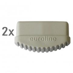 Euroline Leiterfuß weiß 85x20mm Paar