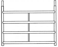 Euroline 4-Sprossenrahmen 1,50m