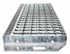 Euroline Gitterroststufe Stahl 1000mm Stufenbreite, 240mm Stufentiefe