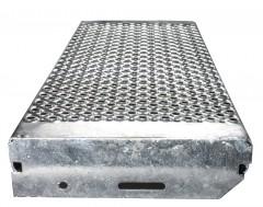 Euroline Lochblechstufe Stahl 800mm Stufenbreite, 250mm Stufentiefe