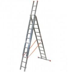 Facal Mehrzweckleiter 3-teilig GENIA S300 3x11 Sprossen