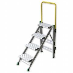 Facal Klapptreppe Plio mit Sicherheitsbügel Aluminium 4 Stufen