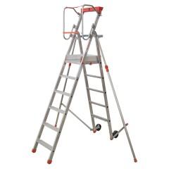 Facal Platea Podesttreppe Aluminium S300 6 Stufen