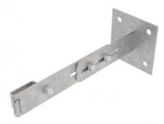 Günzburger verstellbare Wandhalter mit Klemmbügel Stahl verzinkt Wandabstand 275-375mm