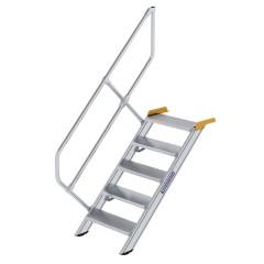 Günzburger Treppe 45°  inkl. einen Handlauf, 600mm Stufenbreite, 5 Stufen