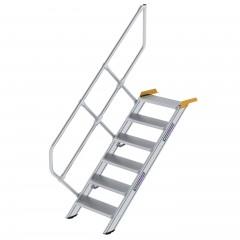 Günzburger Treppe 45°  inkl. einen Handlauf, 600mm Stufenbreite, 6 Stufen