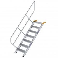 Günzburger Treppe 45°  inkl. einen Handlauf, 600mm Stufenbreite, 7 Stufen