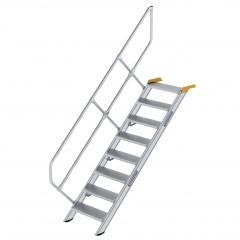 Günzburger Treppe 45°  inkl. einen Handlauf, 600mm Stufenbreite, 8 Stufen