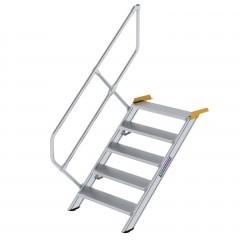 Günzburger Treppe 45°  inkl. einen Handlauf, 800mm Stufenbreite, 5 Stufen
