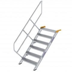 Günzburger Treppe 45°  inkl. einen Handlauf, 800mm Stufenbreite, 6 Stufen