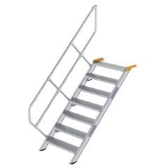 Günzburger Treppe 45°  inkl. einen Handlauf, 800mm Stufenbreite, 7 Stufen