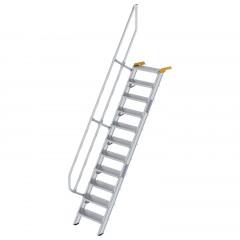 Günzburger Treppe 60°  inkl. einen Handlauf, 600mm Stufenbreite, 11 Stufen