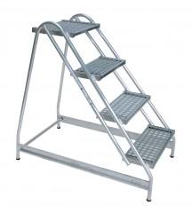 Günzburger Stahl-Gitterrost Arbeitspodest 4 Stufen