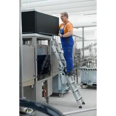 Günzburger Anlegeleiter mit relax-step ohne Traverse 14 Stufen