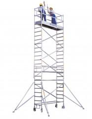 Günzburger Aluminium-Rollgerüst mit Plattformen im 2m-Abstand mit Ausleger