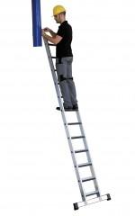 Günzburger Anlegeleiter mit Traverse und relax-step 14 Stufen