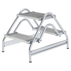 Günzburger Stahl-Gitterrost Arbeitspodest 2x2 Stufen