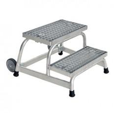 Günzburger Arbeitspodest fahrbar mit Stahl-Gitterrost 2 Stufen