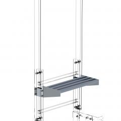 Günzburger Ausstiegstritt Aluminium 250mm