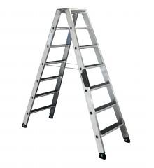 Günzburger Stehleiter beidseitig begehbar mit clip-step R13 2x5 Stufen