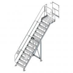 Günzburger Enteisungsanlage Modul 4, Treppe 45° mit Plattform