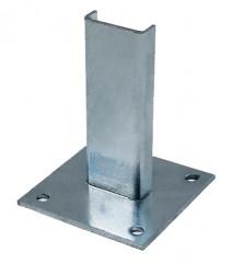 Günzburger Fußplatte Stahl verzinkt